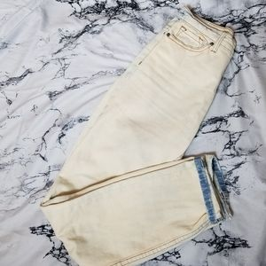 3/$25 BDG Off White Acid Wash Mom Jean